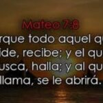 Promesas Biblicas Mateo 7:8