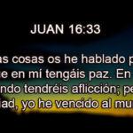 Promesas Biblicas Juan 16:33