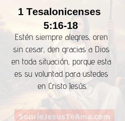 1 Tesalonicenses 5:16-18