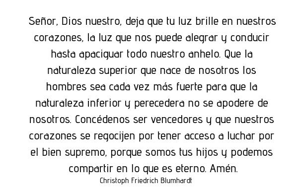 Oración del día miércoles 26