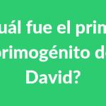 ? ¿Cuál fue el primer primogénito de David?